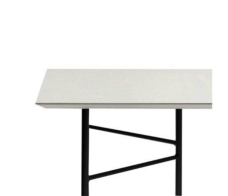 Ferm Living Mingle tafelblad licht grijs linoleum 210x90x2cm