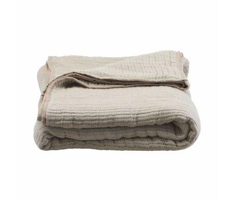 Housedoctor Bedspread Lia sand color cotton 260x140cm