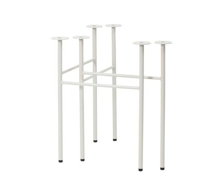 Ferm Living Mingle tafelpoten W68 licht grijs set van 2