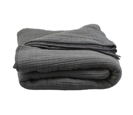 Housedoctor Bedspread Lia dark gray cotton 260x260cm