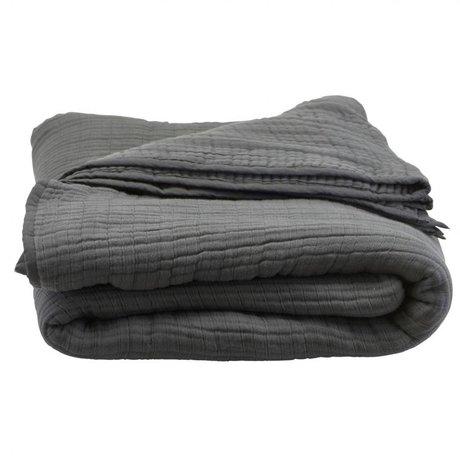 Housedoctor Bedspread Lia dark gray cotton 260x140cm