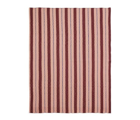 Ferm Living Plaid Pinstripe Rosa Textil-160x120cm