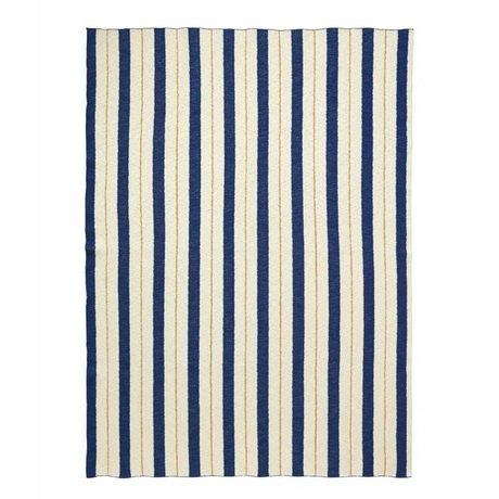 Ferm Living Plaid Pinstripe blue textile 160x120cm