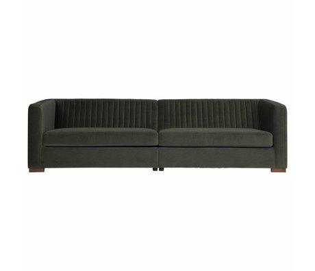 BePureHome Sofa Nouveau onyx gray green velvet 74x275x93cm