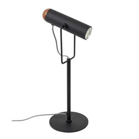Zuiver Tafellamp Marlon zwart metaal 17x20,5x53cm