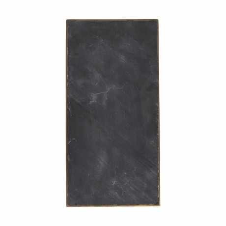 Housedoctor Serveerbord zwart marble 30x15x1,5cm