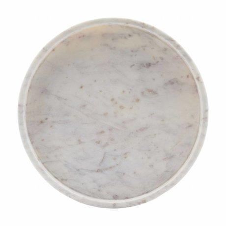 Housedoctor Tablett aus weißen Marmor 30x 4cm