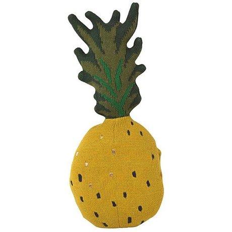 Ferm Living Knuffel fruiticana Pineapple katoen 38x17cm