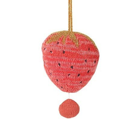 Ferm Living Mobile met muziek fruiticana strawberry katoen Ø9cm