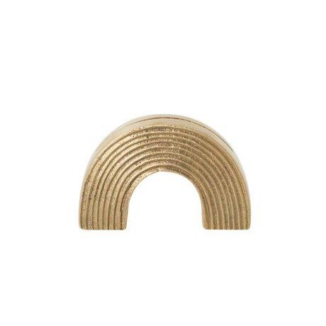 Ferm Living Kaartenstandaard Arch brass goud solide 7,8x2,7x5cm