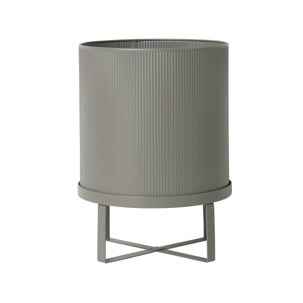 Pot Bau Grande O28x38cm De Zinc Gris Wonen Met Lef