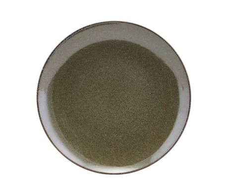 Housedoctor Ontbijtbord See grüne Keramik 21,4