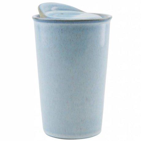 Housedoctor Becher Togo hellblau Keramik ¯9x13,5cm