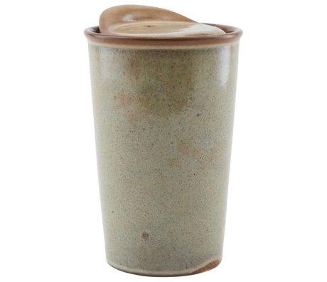 Housedoctor Becher Togo braun Keramik ¯9x13,5cm
