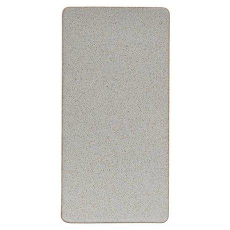 Housedoctor Bord Ivy zand keramiek 30,2x15cm