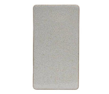 Housedoctor Platte Ivy Sand Keramik 25x13,7cm