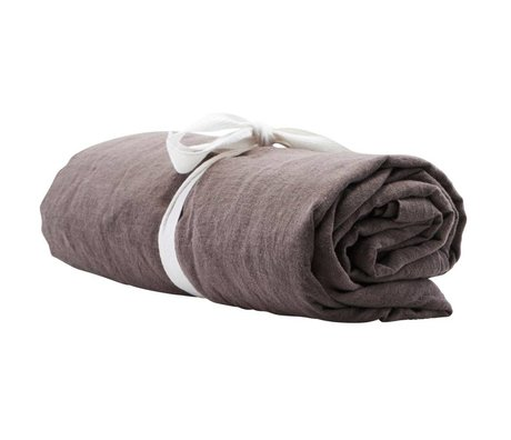 Housedoctor Tafelkleed By grijs linnen 250x140cm