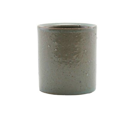 Housedoctor Topf grau / grünen Ton ¯112x15cm