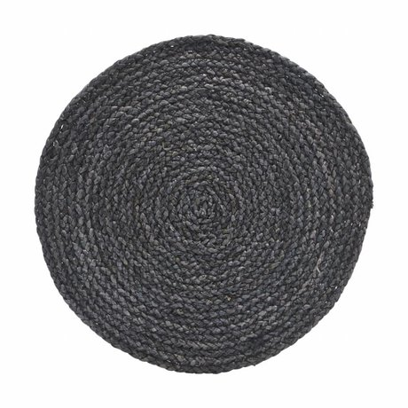 Housedoctor Platzdeckchen Kreis grau / blau 38cm