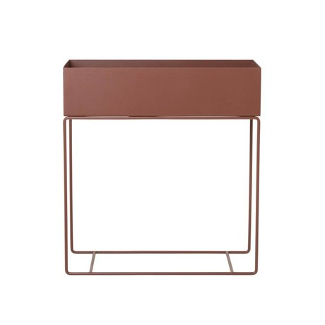 Ferm Living Plant box rood bruin metaal 60x25x65cm