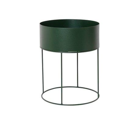 Ferm Living Box für Anlage rund um dunkelgrüne Metall ∅40x50cm