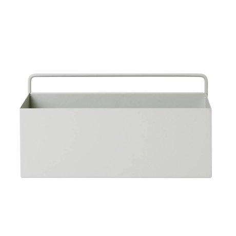 Ferm Living Plantenbox Wand Rechteck hellgrau Metall 30,6x14,6x15,6cm