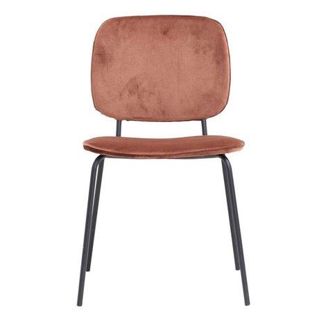 Housedoctor Dining chair Comma rust velvet 55,5x51x83cm