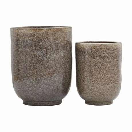 Housedoctor Pho Karamell Keramik-Blumentopf-Set 2