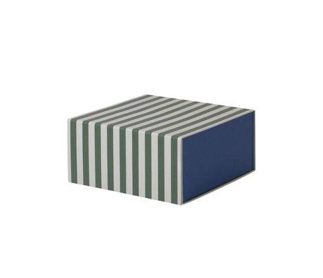Ferm Living Opbergdoos Square groen wit karton 23x11,1x23cm