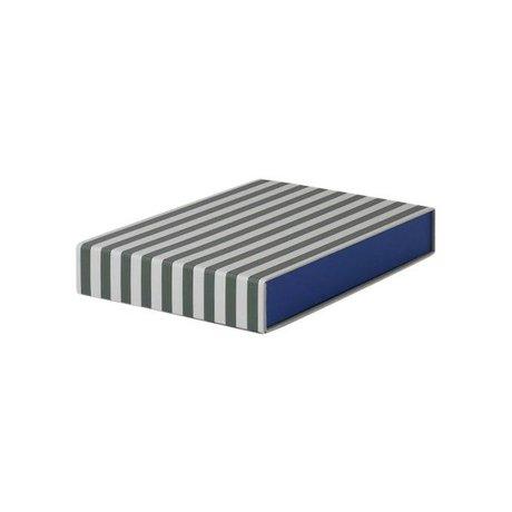 Ferm Living Aufbewahrungsbox Rechteckige, grün weiße Pappe 23x32x5cm