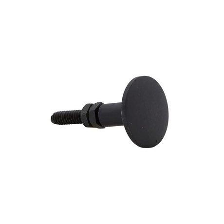Housedoctor Deurknop zwart brass 3cm