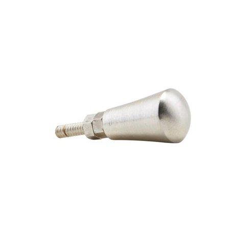 Housedoctor Deurknop zilver brass 1,6cm