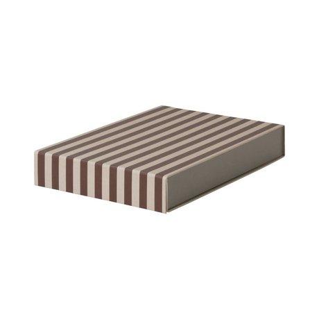 Ferm Living Aufbewahrungsbox rechteckig weinrot rosa Karton 23x32x5cm