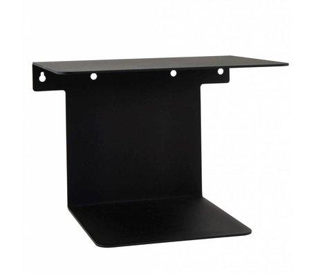 Housedoctor Bücherregal aus schwarzem Stahl 32x25x23cm
