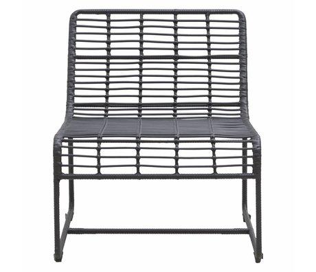 Housedoctor Lounge stoel Oluf zwart ijzer 61x74x71,5cm
