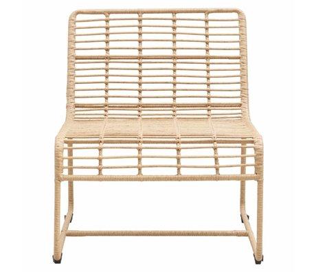 Housedoctor Lounge stoel Oluf nature ijzer 61x74x71,5cm