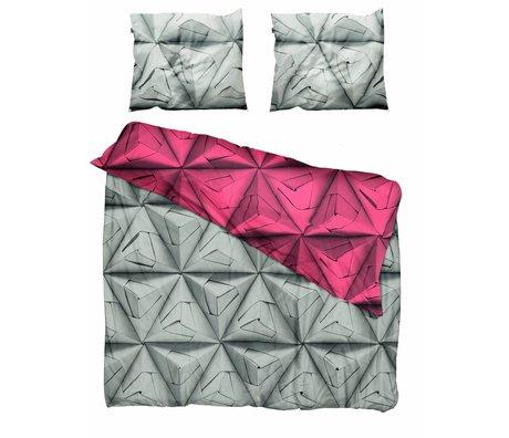 Snurk Beddengoed Snurk Beddengoed  Dekbedovertrek 'Monogami Red' rood katoen