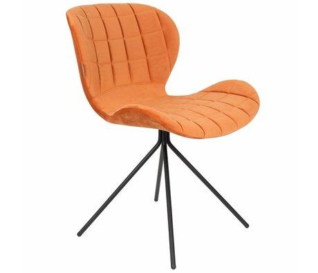 Zuiver Stoel OMG oranje velvet 51x56x80cm
