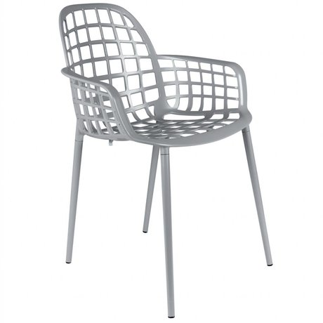 Zuiver Garden chair Albert Kuip light gray metal 59,5x59,5x82,5cm
