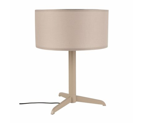 Zuiver Table lamp Shelby taupe brown linen cotton metal 36x48cm