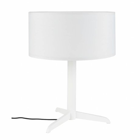 Zuiver Table lamp Shelby white linen cotton metal 36x48cm