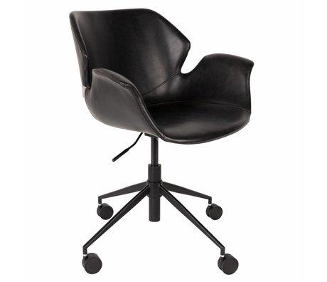 Zuiver Bürostuhl Nikki schwarz PU-Leder 77x77,5 / 90cm