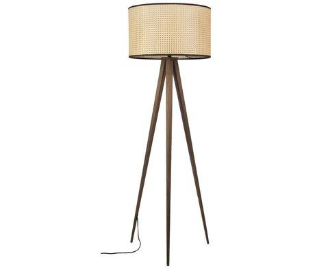 Zuiver Floor lamp Tripod webbing brown plastic wood 50x157cm