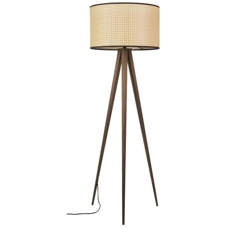 Zuiver Stehlampe Stativgewebe braun Kunststoff Holz 50x157cm