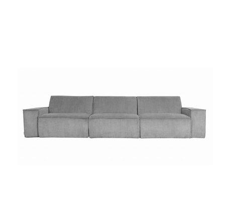 Zuiver Sofa James Cool 3-zits grijs ribstof web 310x91x74cm