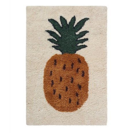 Ferm Living Teppich Fruiticana Ananas multicolor Textil L 180x120cm