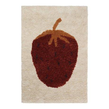 Ferm Living Teppich Fruiticana Erdbeere multicolor Textil L 180x120cm