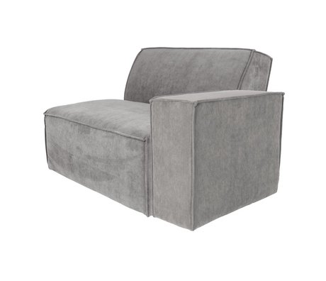 Zuiver Sofa Element James Cooler Arm rechts grauer Rippenstoff 112x91x74cm