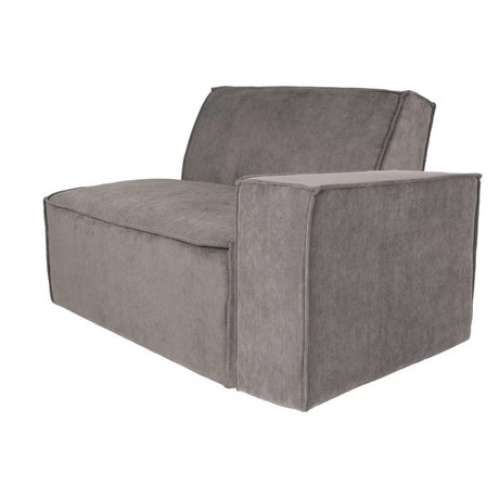 Zuiver Sofa Element James Arm rechts grauer Rippstoff 112x91x74cm