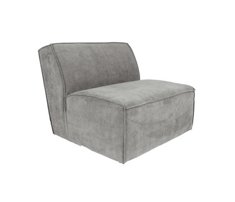 Zuiver Sofa Element James Cool grauer Rippstoff 86x91x74cm